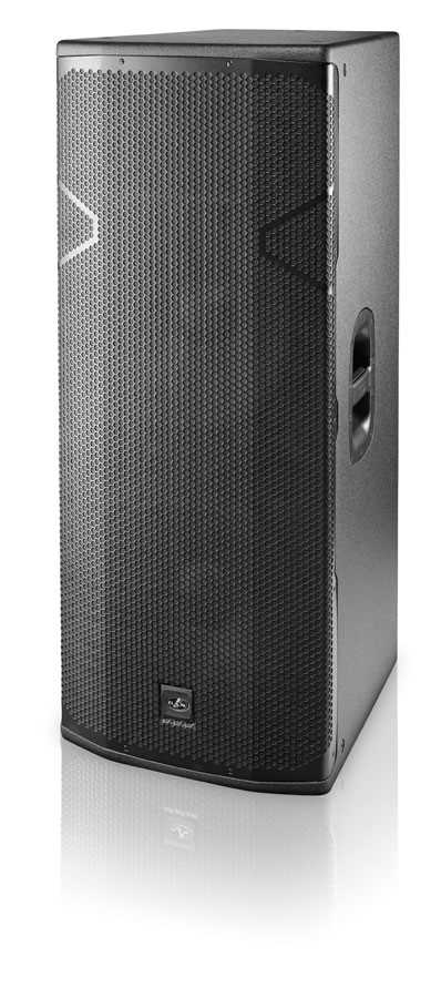 "Powered 2x15"", 2250W Class D, Triamped, 3-way speaker"