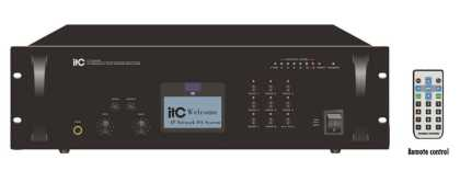 IP Network Audio Amplifier, 8 zone, 240 watt, rack mnt