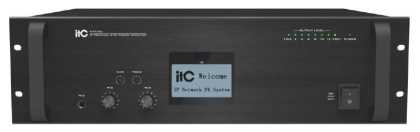 IP Network Audio Amplifier, 500 watt, rack mountable